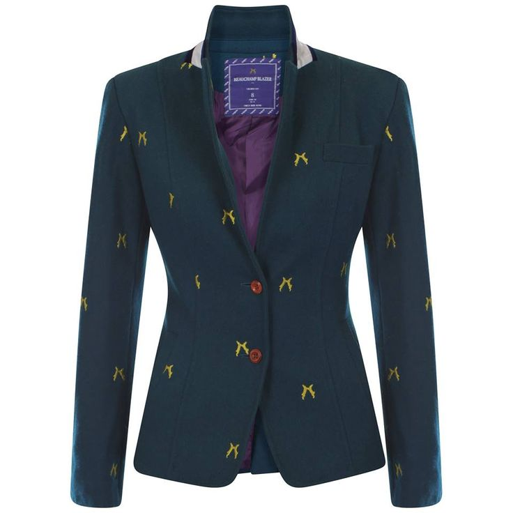 Get that preppy look with Sporting Hares Beauchamp Blazer in Royal Teal! Team with your skinny jeans, long boots and dazzle with your favourite handbag! Made with a luxurious wool blend, taffeta silk lining and velvet under-collar. This jacket is a must have! #sportinghares #beauchampblazer #deepblue Only £155.00! Visit our website for more info! www.lofthouse-equestrian.co.uk