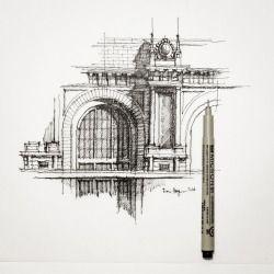 bloglogna: Fachada parcial #architecture #sketch #dhsketch por Dan Hogman http://flic.kr/p/qtDcL8
