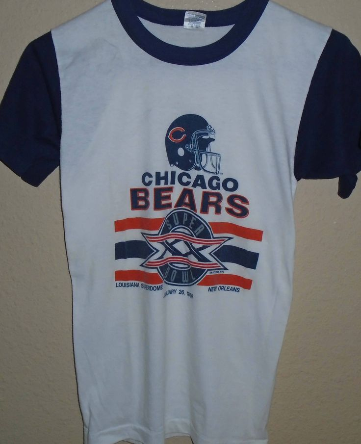 vintage 1980s Chicago Bears Super Bowl t shirt Small by vintagerhino247 on Etsy