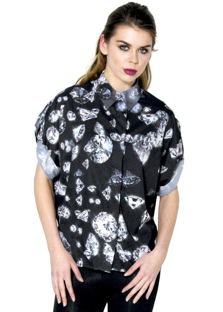 Dead Lovers Forever Diamond Print Shirt