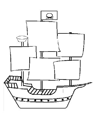 simple pirate ship drawing how to draw pirate ships ehowcom pirate