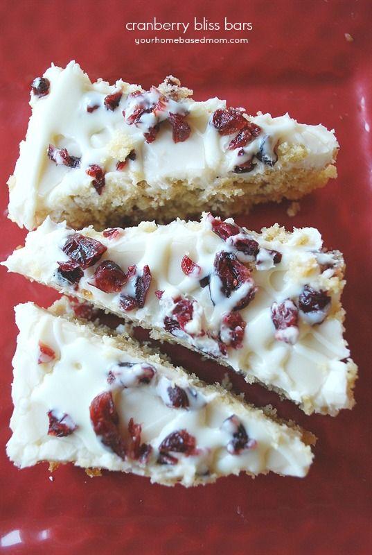 ... Cranberry Bliss Bars, Cranberries Bliss Bar Recipe, Baking Bar