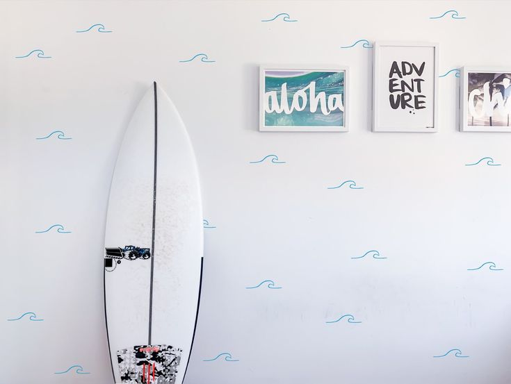 Waves Wall Decals – surf sticker – Waves#4 – removable wall decal