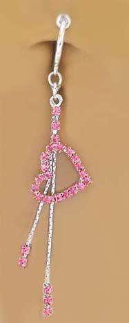 Buy Long Dangle Playboy Bunny Belly Ring