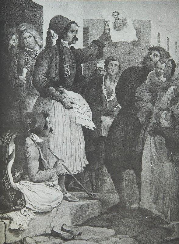 Ο Κωλέττης αναγγέλλει την εκλογή του Όθωνα
