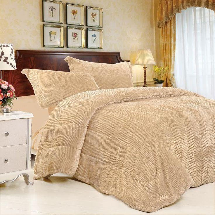 tiger fur 3pc luxury comforter set