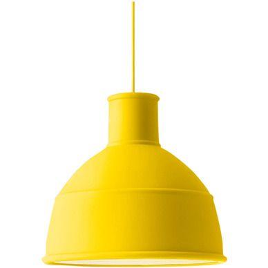 muuto unfold lampe gul