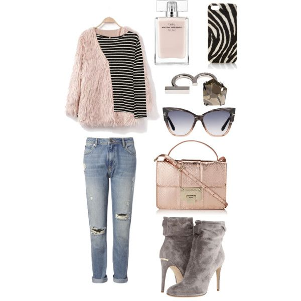 A fashion look from February 2015 featuring R13 tops, Whistles jeans and Burberry ankle booties. Browse and shop related looks.