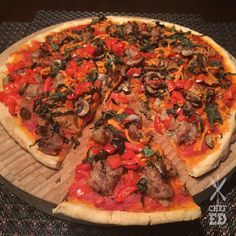 Paleo Pizza made with Otto's Naturals Cassava Flour | Chef Ed