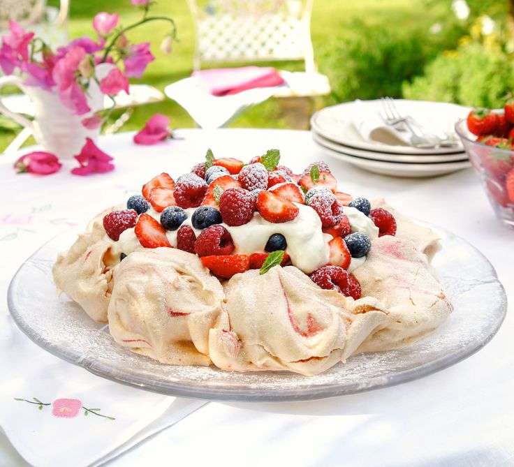 We've reinvented this fruit-topped meringue dessert to reduce the calories, sugar and fat while keeping it as irresistible as the original