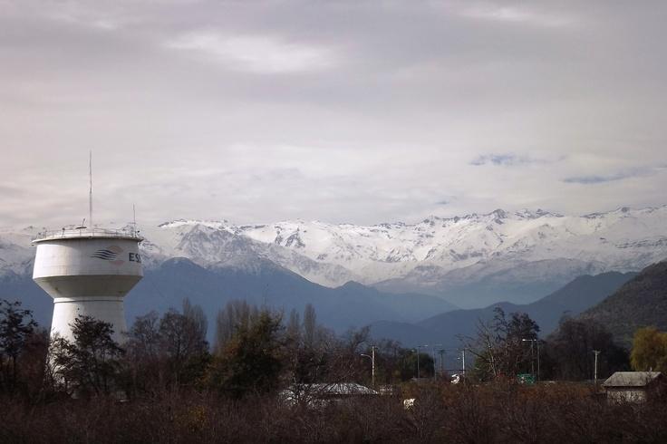 Mirada de la Cordillera de los Andes desde la comuna de Graneros