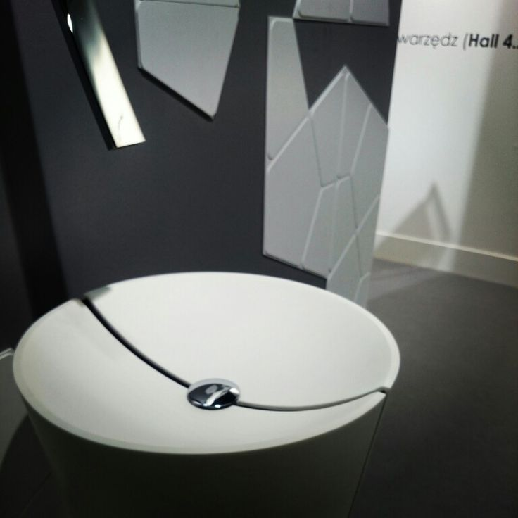 MyBath Penta washbasin presented during ISH Frankfurt Messe 2015  www.mybath.pl  #mybath #coriandesign #corian #bathroomdesign #bathroom