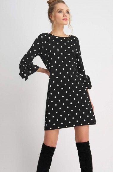 9b155bd1515d Jerseyové šaty s puntíky