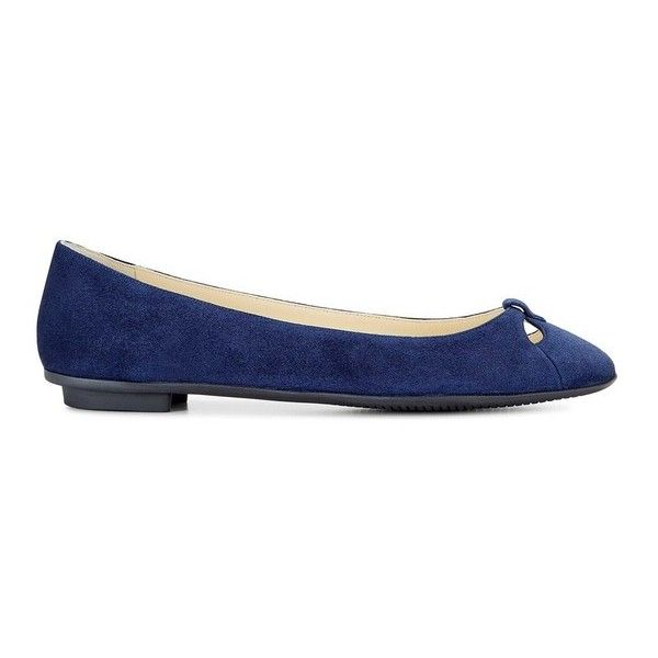Sarah Flint Lucille ($180) ❤ liked on Polyvore featuring shoes, flats, navy, navy flat shoes, ballerina pumps, navy blue flat shoes, navy blue ballet flats and navy flats