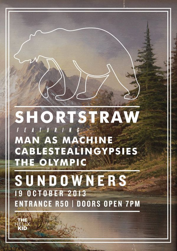 Shortstraw & Friends Live at Sundowners (Gig Poster) by Peter Crafford, via Behance