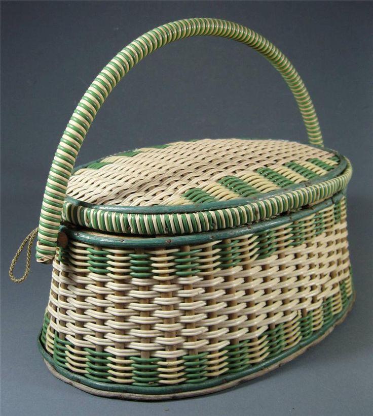 1950's sewing basket