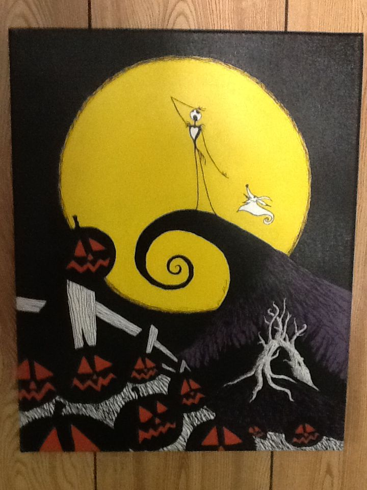 Nightmare Before Christmas Art | The Nightmare Before Christmas' painting by ~kriskilgannon on ...