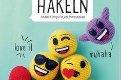 Emoji häkeln: Süßen Smiley mit Herz selber machen | BRIGITTE.de