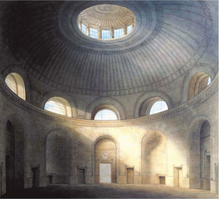 John Soane, the Rotunda in the Bank of England, drawing by Joseph Gandy, built between 1794 and 1796