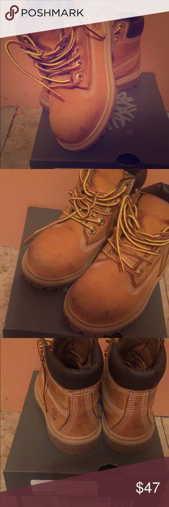 Worn but good condition toddler timberland boots Good condition toddler timberlands Timberland Shoes Boots