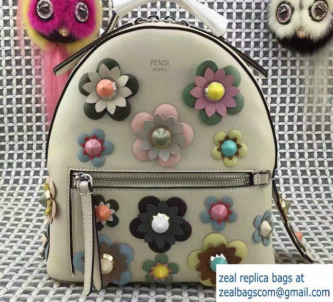Fendi Flowerland Mini Zaino Backpack Bag Off White 02 Spring 2017