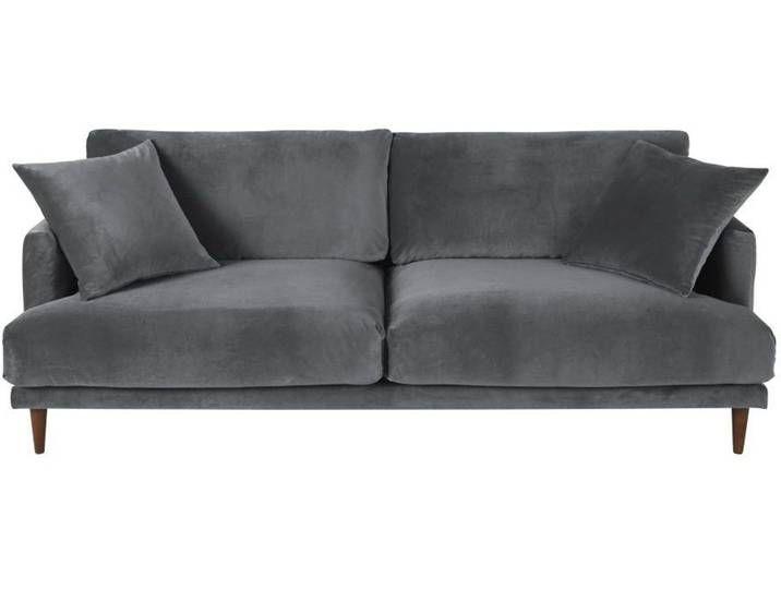3 Sitzer Sofa Mit Anthrazitgrauem Samtbezug Raoul In 2020 Sofa Anthrazit Grau