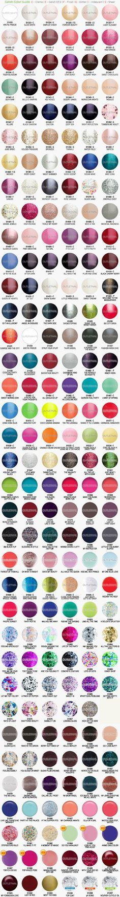 outletnail items - Get great deals on Gelish Harmony Color Chart items on eBay Stores!