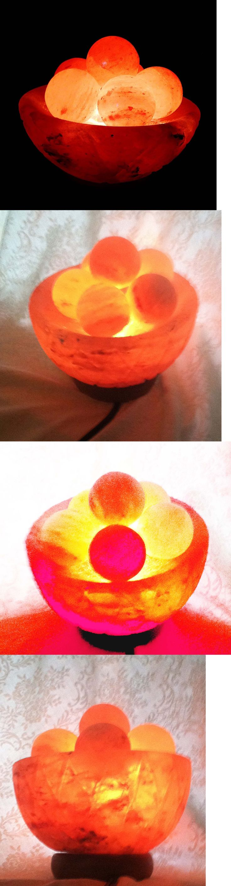 Massage Stones and Rocks: Ionic Air Purifier Pure Himalayan Salt® Fire Bowl With Massage Balls Crystal Sea BUY IT NOW ONLY: $59.0