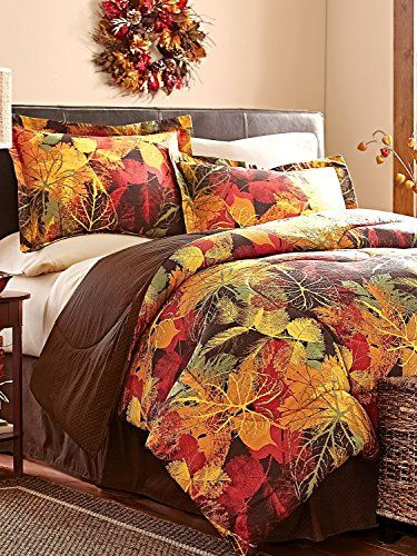 FunkN Fresh Bedding With Leaves Spring Summer Or Fall