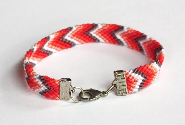 How to add clasps to friendship bracelets   How About Orange