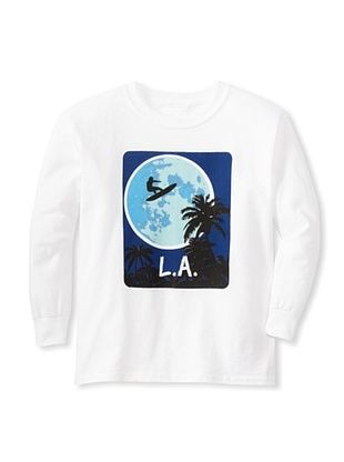 64% OFF Little Dilascia Kid's Surf LA Long Sleeve Tee (White)