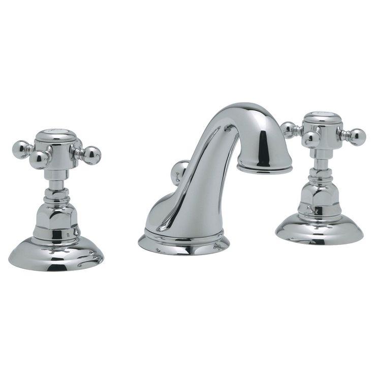 Rohl A1408XMAPC2 CSpout Widespread Bathroom Sink Faucet