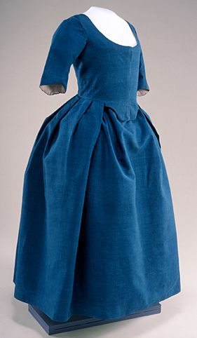 Robe a l'anglaise, 1775-95 US, Historic Deerfield Museum