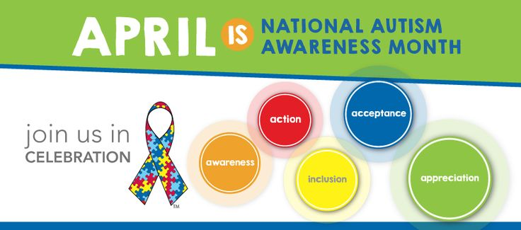 April is National Autism Awareness Month. Join the Autism Society in getting involved with the autism community.
