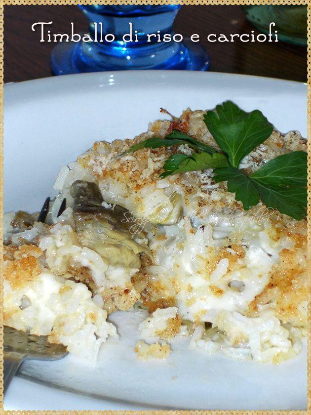 Timballo di riso e carciofi (Rice and artichokes)