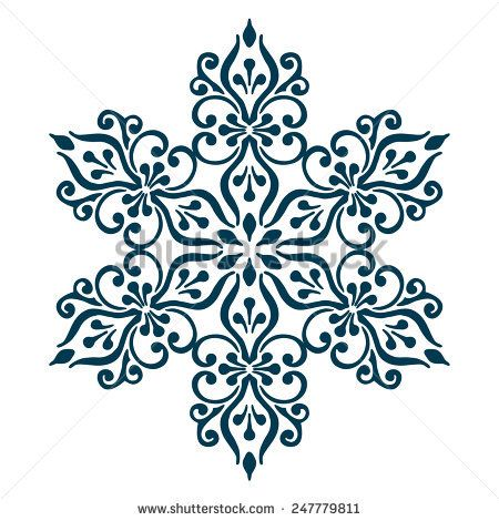 Isolated Abstract Floral pattern. Vector illustration