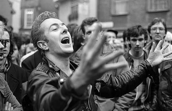 """The Clash on Twitter: """"Joe Strummer in York on the 1985 busking tour by…"""