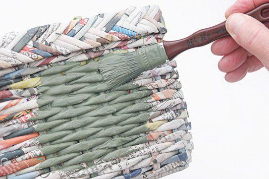 Kosár újságpapírból