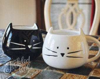 Pin by Caitlin Curran on House Accessories Cat mug, Cute