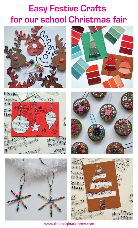 The Imagination box blog - Christmas craft ideas for our kids school fair, from cards to clay, lollipops to snowflakes