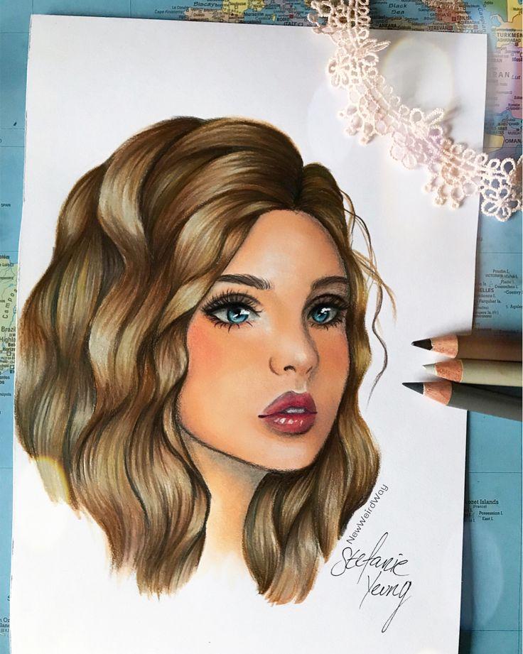 2,188 Abonnenten, 178 folgen, 114 Beiträge - Sieh dir Instagram-Fotos und -Videos von Stefanie (@newweirdway) an    wavy hair, melancholic, sad, girl drawing, side view, shiny hair