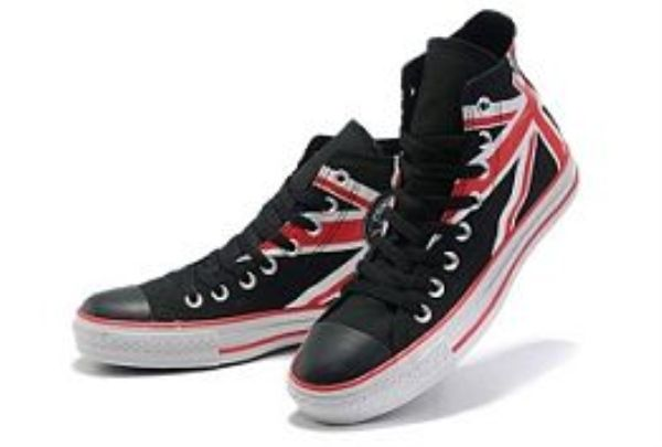 Converse Britse Vlag High Top Zwart