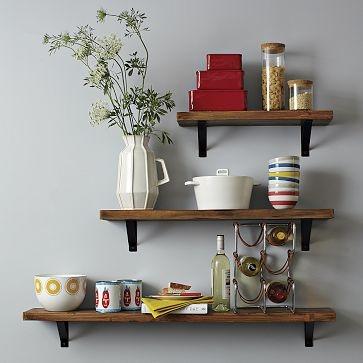 salvaged wood shelves westelm $59.99 2'