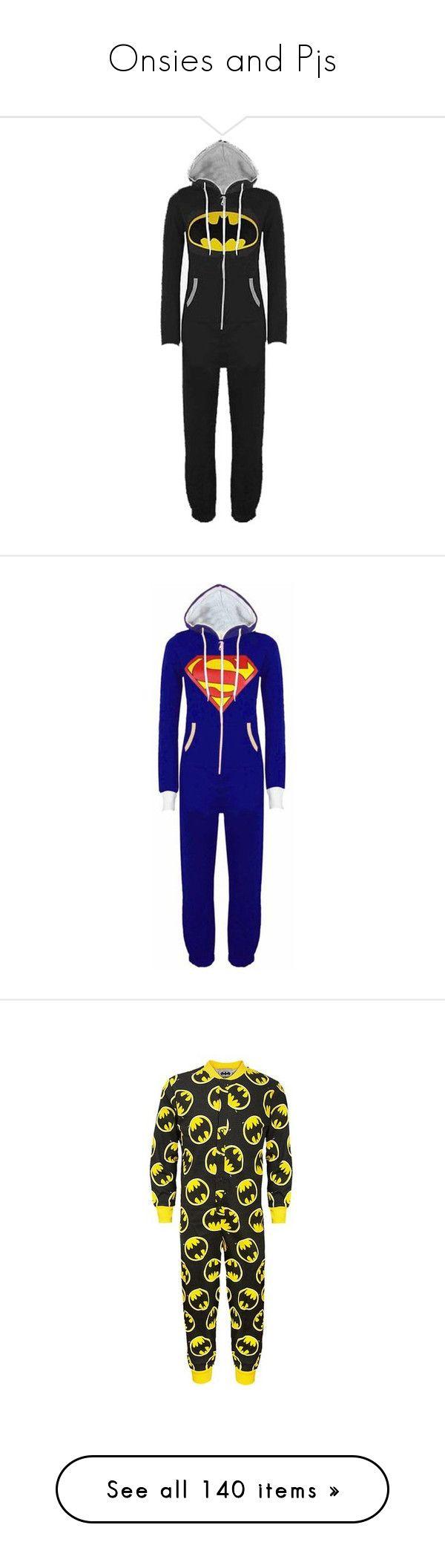 """Onsies and Pjs"" by pierce-the-muflafla ❤ liked on Polyvore featuring pajamas, onesie, pyjamas, intimates, one piece, mens, men's clothing, batman, pijamas and sleepwear"