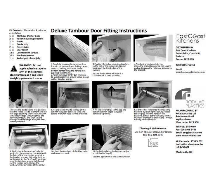 720 X 600mm White Gloss Tambour Door Kit Shutter Sc 1 St East .