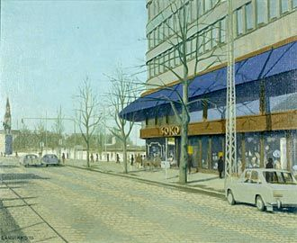 Leo Rannikko, öljymaalaus 1976.  Sokoksen kulma.