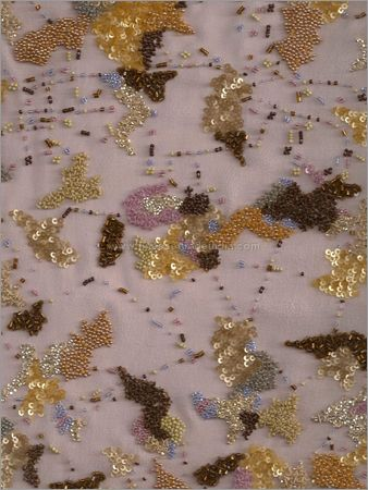 Evening Dress Beaded Fabric
