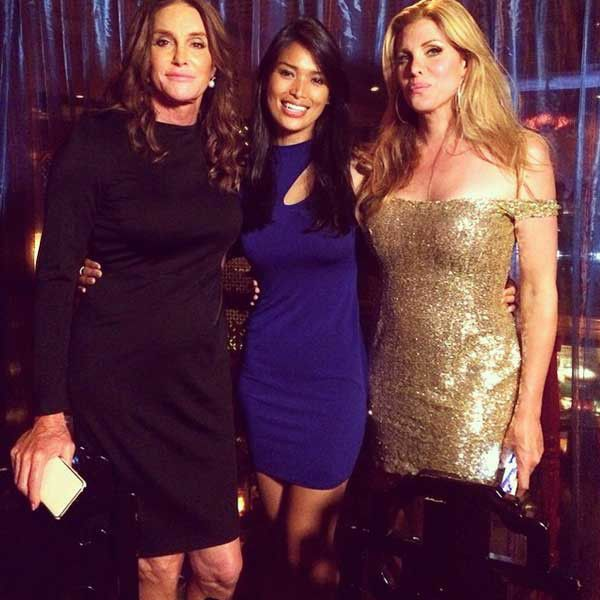 BFF's from Caitlyn Jenner's Best Pics  Continuing the Pride festivities, Jenner rocked a sleek black dress and clutch alongside fellow transgender friends.
