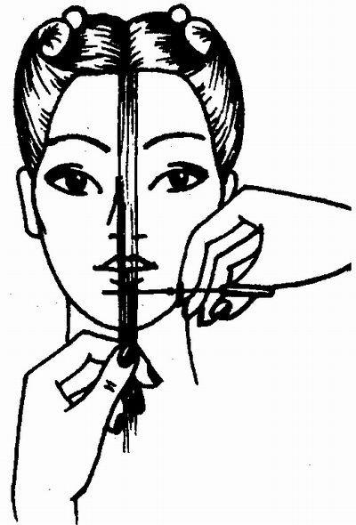определение наименьшей длины волос в стрижке «Каскад» на длинные волосы
