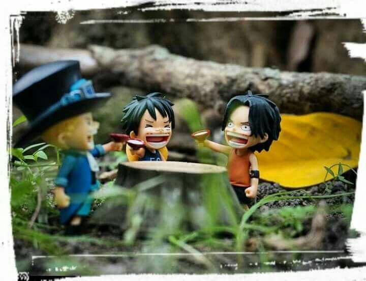 Aca, Sabo, Luffy #onepiece